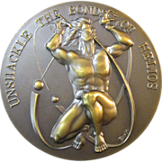 An American Bronze Medal Regarding Solar Energy