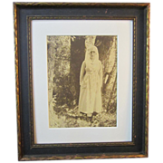 A Vintage Early 20th Century Photograph of a Nurse