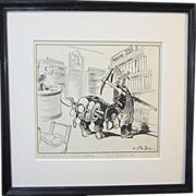 A Vintage Cartoon Poking Fun at a Miner by Louis Paige