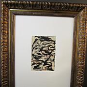 "Monhegan Island Maine Drawing of  ""Bird Island"" by E. Erlanger, Listed Artist"