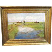 A Landscape With Windmill by Anna Richards Brewster