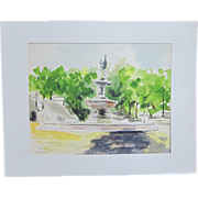 A Watercolor of Prospect Park in Washington, D. C.