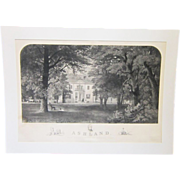 An 1853 Large Kentucky Engraving of Ashland, the Home of Henry Clay