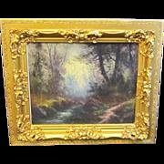 A 19th Century American Hudson River School Pastel Landscape