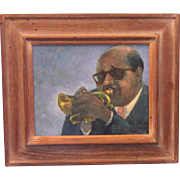 A Portrait of Dixieland Jazz Musician Sidney DeParis by Davis Quinn (Died 1984)