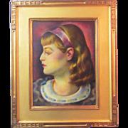 A Modernist Art Deco Era Portrait of a Woman by Umberto Romano (1906-1982)