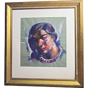 A Modernist Portrait of a Woman by Umberto Romano (1905-1982)