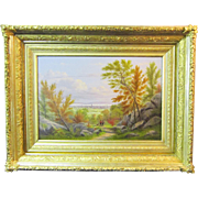 A Hudson River School Landscape Painting by William Rickarby Miller (1818-1893)