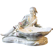 A Vintage Figural and Hand Painted Porcelain Sweet-meats Dish