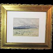 A 19th Century Watercolor of Pike's Peak from Pueblo, Colorado
