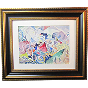 An American Cubist Painting by Leighton R. Cram (1895-1981)