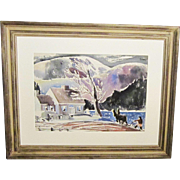 A 20th Century American Modernist Landscape by James Floyd Clymer (1893-1982)