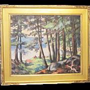 An Early 20th Century Post-Impressionist Landscape by Elizabeth Reynolds