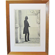 A Vintage Henry Clay Silhouette Lithograph