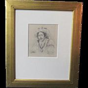 A 19th Century English Drawing of Edmund Kean Portraying Richard III