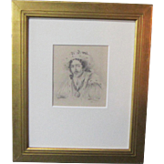 A 19th Century English Drawing of Edmund Kean Portraying Richard III