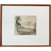 A 1926 Etching of Fair Haven, Connecticut by Armin Hemberger (1896-1974)