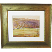 An American Watercolor Landscape by Frank C. Herbst (1912-1970)