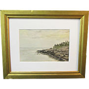 An Early 20th Century Seascape of Digby Gut, Nova Scotia by Frida Lundell (1913-1999)