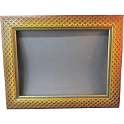A 19th Century American Picture Frame With Applied Continuous Designs and Original Seller's Label