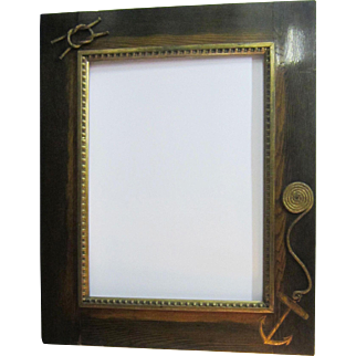 An Eccentric 19th Century Picture Frame with Nautical Motif Decorations