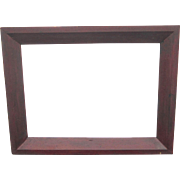 A 19th Century American Country Picture Frame in Original Red Painted Finish