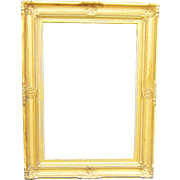 A Late 19th or Early 20th Century American Gold Leaf Picture Frame