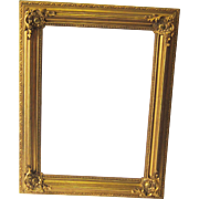 A 19th Century Gilded French Picture Frame