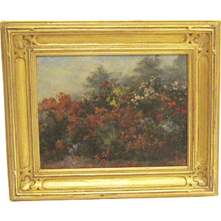 A Painting of Shakespeare's Flower Garden by Jennie A. Brownscombe (1851-1936)