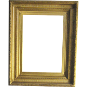 A Hudson River School Gilded and Fluted Cove Picture Frame, 3rd Quarter of the 19th Century.