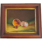 A 19th Century American Folk Art Still Life by J. Bower (Active 1875-1900)