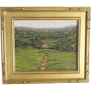 An Early 20th Century American Impressionist Landscape with House