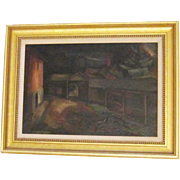 A 20th Century American Modernist Painting of Yaddo by Nicholas Luisi (1894-1977)