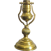 An Early 20th Century American Electric Brass Gimbal Lamp with Early Edison Patent Socket