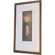 A Hand Colored Photograph of Sailing by Fred Thompson