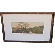 A Hand Colored Photograph of Springtime by Fred Thompson.