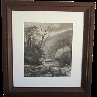 A 19th Century American Landscape by John Moran (1831-1903)