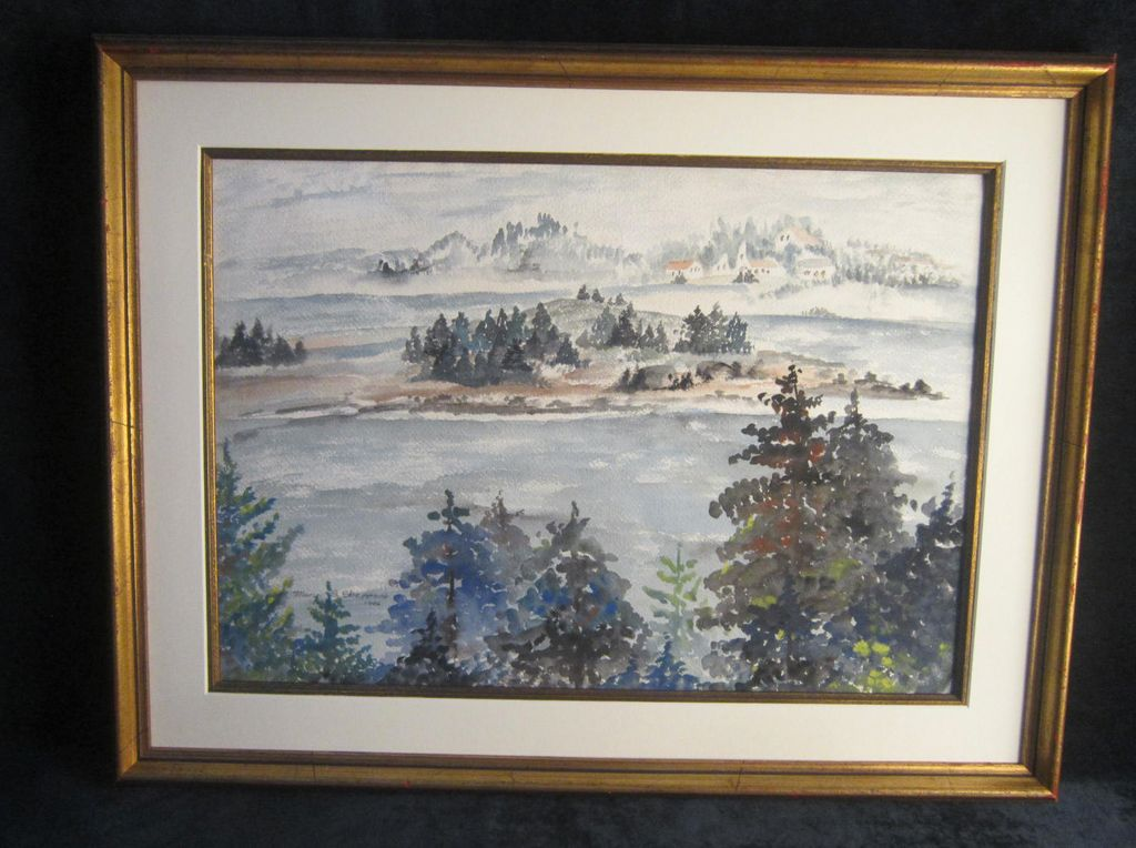 A Cragsmoor, New York Watercolor by Mary Sheppard.