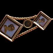 Georgian 18kt drop earrings.