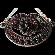 Victorian Bohemian garnet 9kt pendant and chain