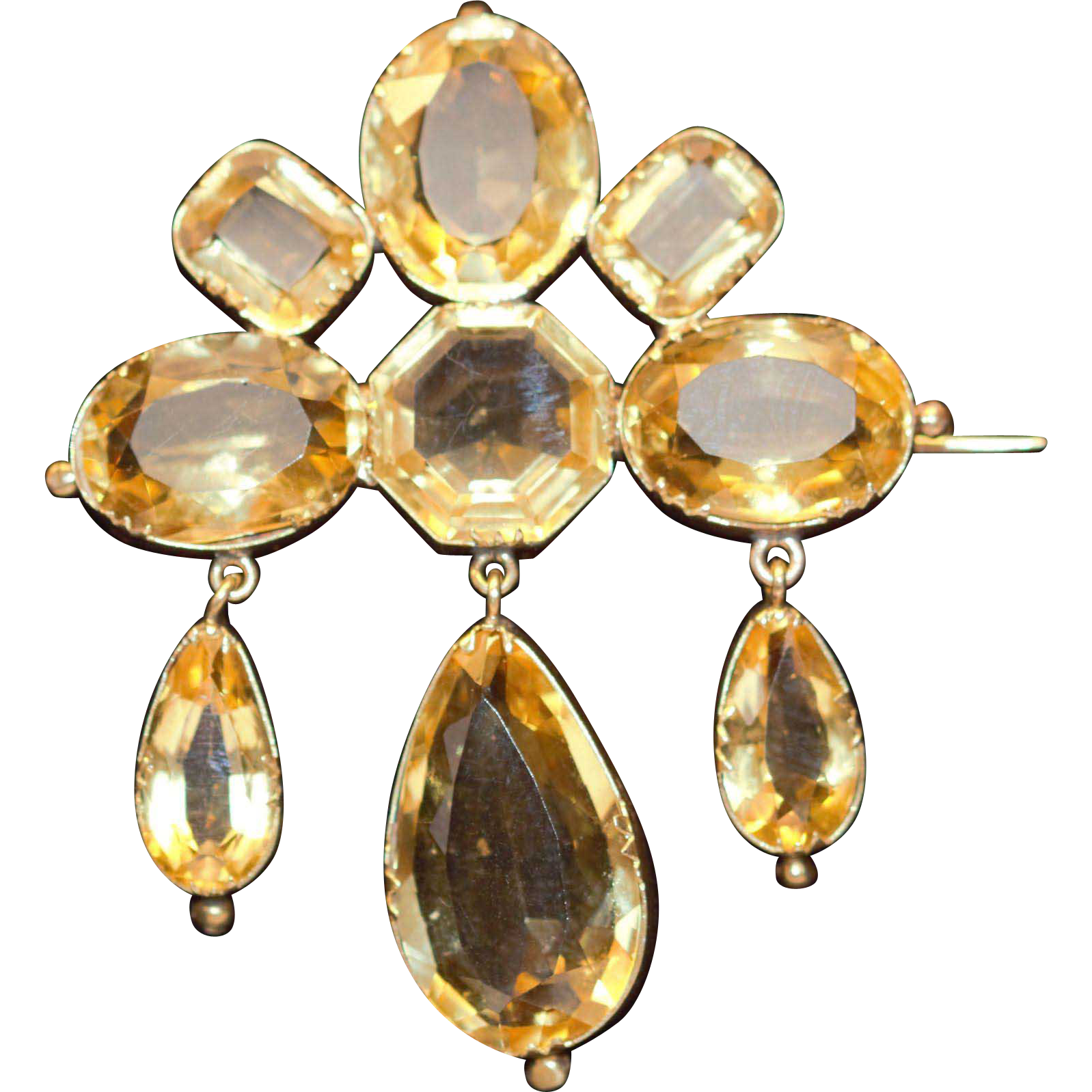 Victorian Citrine 15kt Brooch From Navette On Ruby Lane