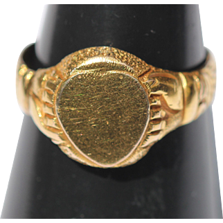 Antique Australian 15kt signet ring