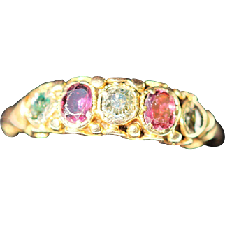 Late Georgian/early Victorian 15kt ruby and diamond ring