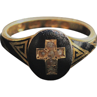 Antique mourning ring from 1867