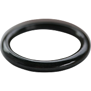 Black Jade Bangle Bracelet  60 mm