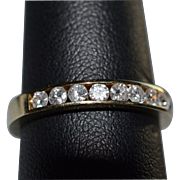 Diamond Eternity Band in 14 Karat Yellow Gold
