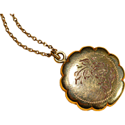 Vintage Gold filled Locket and Chain : Circa 1940;s