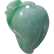 Early Republic Era Jadeite Peach Carving from China