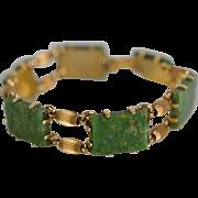Vintage Krementz Jade Bracelet: Circa 1955