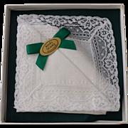 Hankie Irish Linen Gift Box Never Used